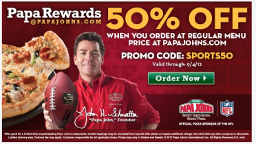 Nov 15,  · In addition to pizza, Papa John's favorites, you have more choices to buy at Papa Johns, such as Papa Johns gift cards. Your friends must love this gift a lot. Finding the best coupons from interactivebest.ml before shopping must be the smartest choice you can make today.
