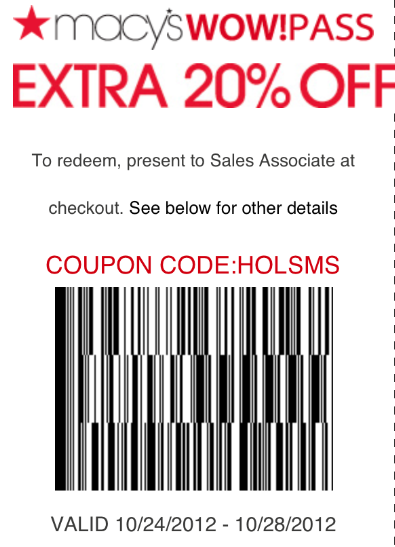How to get macy's coupons by text