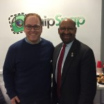 Philadelphia Mayor Michael Nutter and SnipSnap CEO Ted Mann