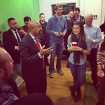 Mayor Michael Nutter addressing the Startup Hangout crowd